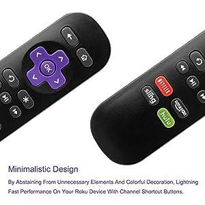 LOUTOC Standard Replacement IR Remote with 4 Buttons for Black Roku 1, LT, HD, XD, XDS, Roku N1, Roku 2 HD, XS, XD, Roku 3, Roku Express, Roku Express+ - Not Support Roku Stick or Roku TV