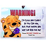 Don't Touch The Baby, 6 x 4 inch Laminated Car Seat Tag by Cold Snap Studio, The SEACATS Hugs - Handmade in The USA!