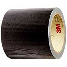 """TapeCase 8979 4""""X10M-BLK Black Polyethylene/Rubber 3M 8979 Residue Free Duct Tape, 10.94 Yd Length, 4"""" Width"""