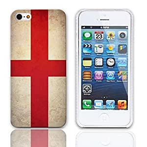 YULIN Vintage The Flag of ST. George Pattern Hard Case with 3-Pack Screen Protectors for iPhone 5/5S