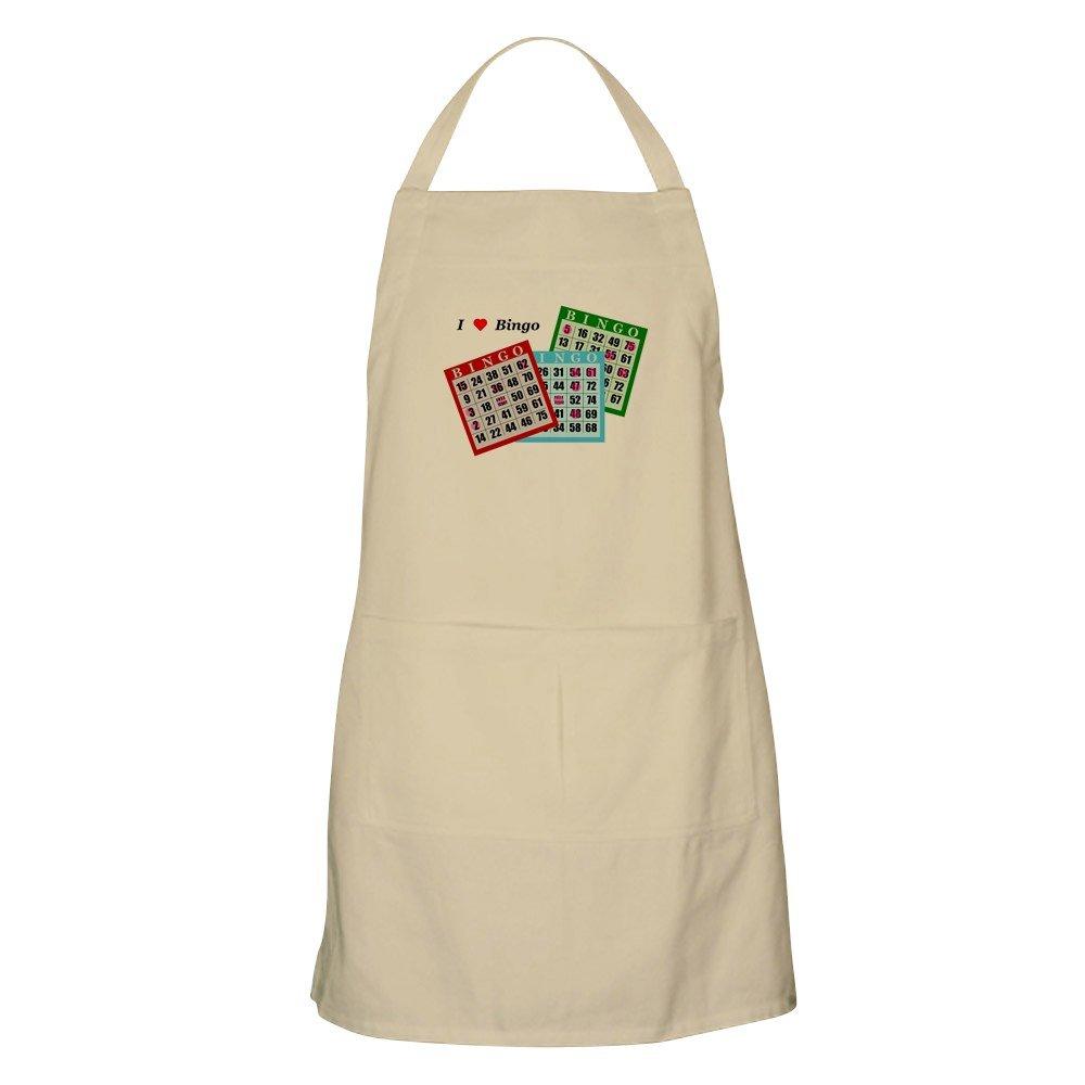 CafePress - I Love Bingo BBQ Apron - Kitchen Apron with Pockets, Grilling Apron, Baking Apron