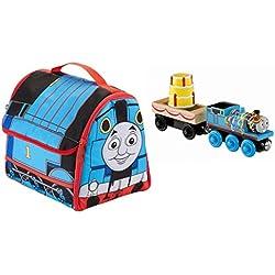 Thomas & Friends Bundle: Wooden Railway Birthday Train PLUS Exploring Sodor Travel Case!