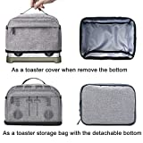VOSDANS 4 Slice Toaster Cover with Removable Bottom