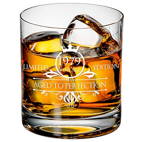 1979 40th Birthday Whiskey Glass for Men and
