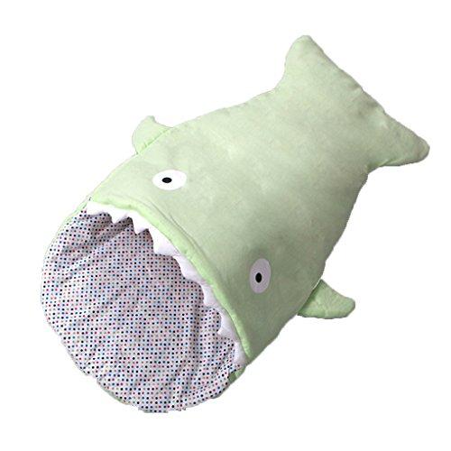 QHGstore Verdicken Baumwolle Kinder Babys Tasche warme Shark Schlafsack Schlaf rosa Grün