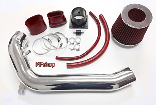1991 1992 1993 1994 Nissan 240SX S13 Silvia 2.4L L4 Air Intake Filter System Kit (Red Filter & Accessories) ()