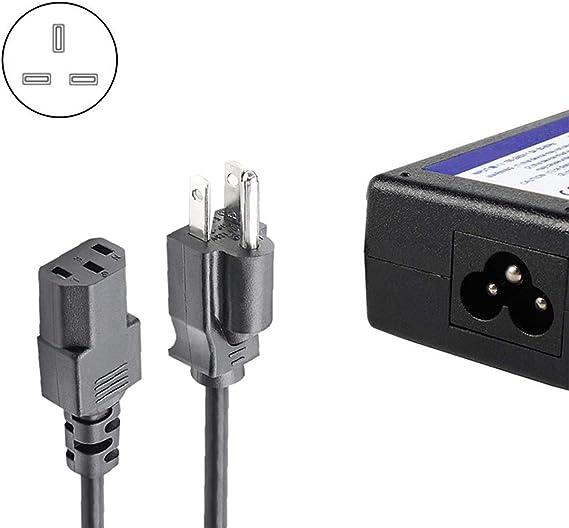 Cables de alimentación, cable de alimentación de CA universal de 6 pies para computadora personal, monitor de PC, plasma bravia UHD Smart TV, fuente de alimentación de impresora de repuesto 3 clavijas: