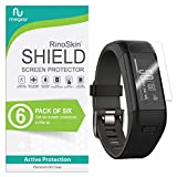 [6-Pack] RinoGear for Garmin Vivosmart HR Plus Screen Protector (Garmin Approach X40) Case Friendly Screen Protector for Garmin Vivosmart HR Plus Accessory Full Coverage Clear Film