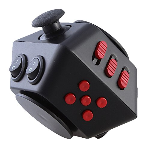 FIDGET DICE 10 Sides Novelty Toys, Magic Cube For Fidgeters, Relieves Anxiety and - 12 Side Dice