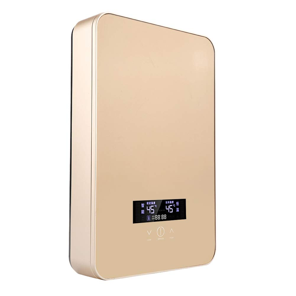 6500W Oro 8500W EU 3000W Mini Calentador de Agua El/éctrico Instant/áneo Sin Tanque 220V Temperatura de Agua de Salida Ajustable para Uso Ba/ño Cocina Fdit Socialme-EU 8500W