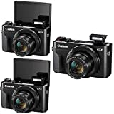 Canon G7X Mark II PowerShot 20.1MP Digital Camera (Black) + 32GB Memory Card + Wallet + Reader + Lens Pen + Dust Blower + Compact Video Light + Case + 3pc Cleaning Kit