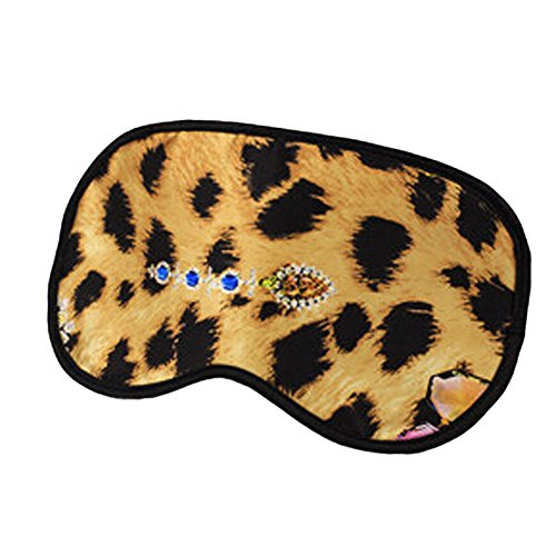 Elegant Silk Sleeping Eye Mask Sleep Mask Eye-shade Aid-sleeping,Leopard Grain,B (Freeze Frame Eye Cream compare prices)