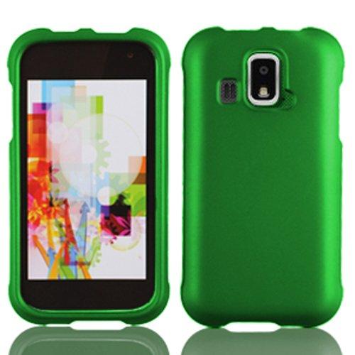 LF 4 Item Bundle - Designer Case Cover, Lf Stylus Pen, Screen Protector & Wiper for (US Cellular) Kyocera Hydro XTRM C6721 (Green)
