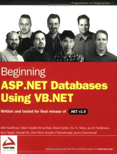 Beginning ASP.NET Databases Using VB.NET (Programmer to Programmer)