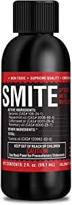 SMITE Spider Mite Killer Supreme Growers, All Natural Pesticide Concentrate, Non-Toxic, Biodegradable, Organic Eco Friendly Pest Control, 2 oz Makes 2 Gallons Pest Control Mix