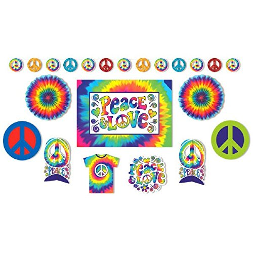 Amscan Feeling Groovy 60's Theme Party Psychedelic Decorating Kit (10 Piece), Multi Color, 15.6 x 10.9 for $<!--$17.50-->