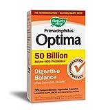 Nature's Way 30 Piece Primadophilus Optima Digestive Balance Capsules, Acidophilus, 30 Count