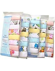 Pack de 8 paños de muselina extra suaves para recién nacido, 2 capas, algodón natural, gasa, toallas de bebé por Busy Mom 30 x 30 8x random girl color