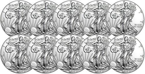 (2019 American Silver Eagle Ten Coins Brilliant Uncirculated)