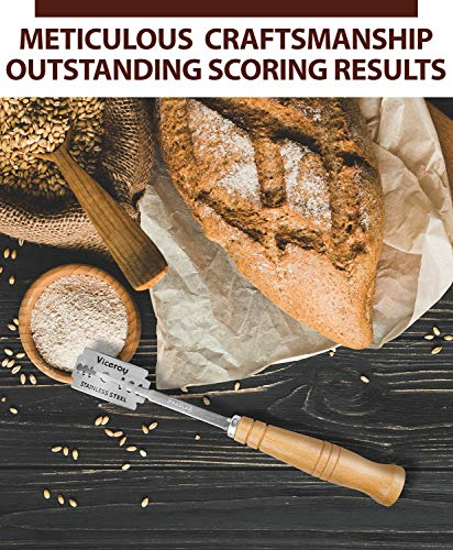 Baker's Premium Bread Lame - 6 Blades, Leather Protective Cover and Artisan Bread Bakers eBook Included - Top Quality Bread Scoring Tool by Pradlar by PRADLAR (Image #5)