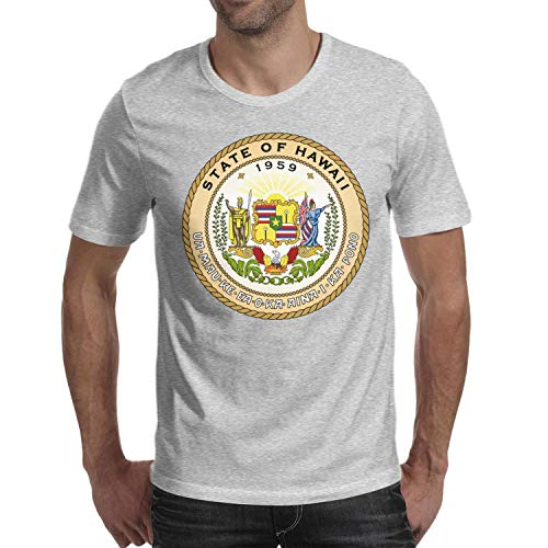 - QsWsov Seal of The State of Hawaii T-Shirt Cable T Shirt Gentleman Style Plain Cool