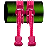 AKTIVX SPORTS No Tie Shoe Laces for Golf Shoes - Voted The #1 Golf Gift of 2016 - Top Golf Accessories for Golfers - Replacement Golfing Shoelaces & Golf Equipment, Hot Pink