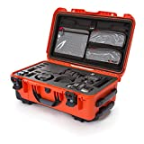 Nanuk 935 Waterproof Carry-on Hard Case with Lid Organizer and Foam Insert for Canon, Nikon - 2 DSLR Body and Lens/Lenses - Orange