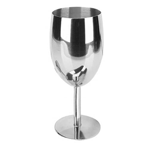 EgoEra® Unbreakable Stainless Steel Wine Glasses goblet, 17 cm Height