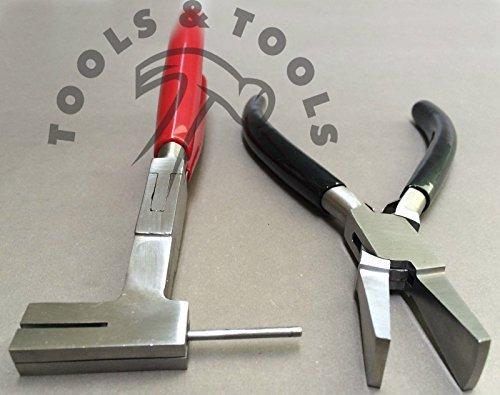 2 piezas Juego de pinzas resorte Couper de pico de pato amplio para mordazas artesanía joyas hilos herramientas: Amazon.es: Joyería