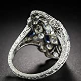 Hollow Ring, Wenini Exaggerated Light Luxury Ladies