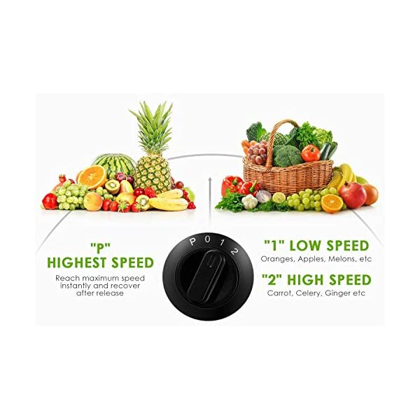 Centrifuga Frutta e Verdura, Aicook Estrattore di Succo con 65MM Bocca Larga, Finestra del Succo Visivo, Piedi Anti-scivolosi e Facile Pulizia, Centrifuga di Acciaio Inox con 3 Velocità, Senza BPA - 2020 -