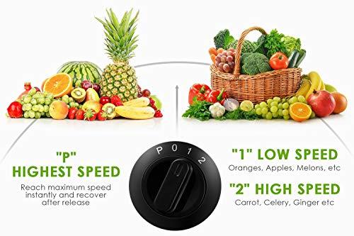 Centrifuga Frutta e Verdura, Aicook Estrattore di Succo con 65MM Bocca Larga, Finestra del Succo Visivo, Facile Pulizia… 6