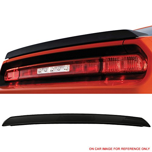 - Pre-painted Trunk Spoiler Fits 2008-2018 Dodge Challenger | SRT Style ABS Painted #PX8 Black Rear Trunk Boot Lip Wing Deck Lid Other Color Available By IKON MOTORSPORTS | 2009 2010 2011 2012 2013