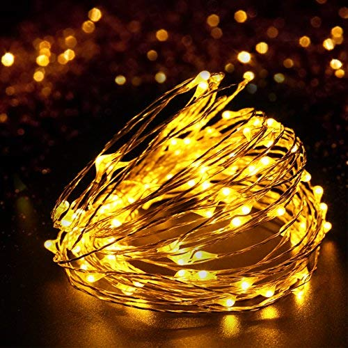 4 Pack 100 LED String Lights Battery Operated Fairy Lights 33ft 2018 Upgraded Waterproof 8 Modes Remote Control Timer Copper Wire Firefly Lights for Patio Bedroom Wedding Christmas Decor Warm White by SHINE HAI (Image #7)