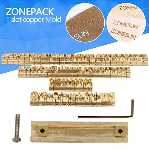 ZONEPACK Copper Brass Stamping Flexible Letters Numbers Alphabets Symbols Characters Molds CNC Engraving Molds for Hot Foil Stamping Machine (Microsoft Elegant (Stamping Foils)