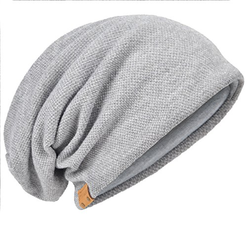 f90c049dd0d HISSHE Oversize Baggy Slouch Beanie Large Slouchy Skullcap Winter Summer Hat  (Solid-Pale)