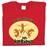Polish Apparel Eat Kielbasa - Black T-Shirt XXX LARGE
