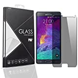 HugeTree Galaxy Note 5 Privacy Anti-Spy Tempered Glass Full Screen Protector Ballistics 0.3mm 9H Hardness Anti shatter Anti Scratch Fingerprint, Bubble Free Black as Mirror