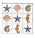 Metal Nautical Grid-Style Wall Art - 32 sq. x 2 D