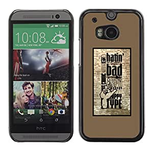Paccase / SLIM PC / Aliminium Casa Carcasa Funda Case Cover - Hatin Bad - HTC One M8