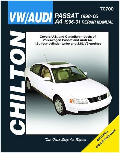 amazon com: chilton volkswagen passat/audi a4 1998-2005 repair manual  (70700): automotive