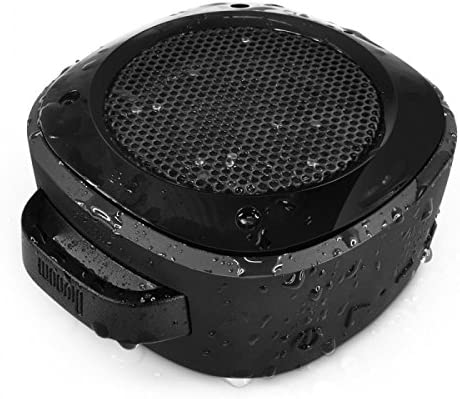Divoom Airbeat-10 Water Resistant Bluetooth 3.0 Portable Speaker, with Suction Cup for Showers, Bike Mount Speaker for Smartphone, iPhone, Galaxy, LG, iPad, Tablet PC Black