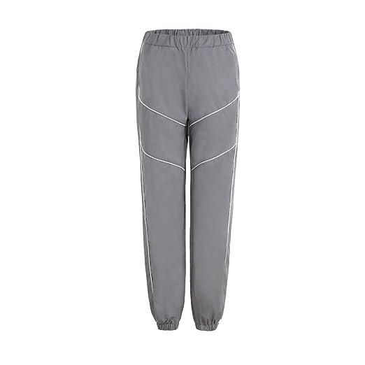 ChenYongPing Pantalones Reflectantes para Mujer Deportes de Las ...