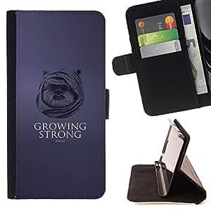 Momo Phone Case / Flip Funda de Cuero Case Cover - Creciendo Ewok Fuerte;;;;;;;; - HTC One M7