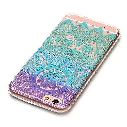 "Hülle iPhone 6 Plus / 6S Plus , LH Mandala Windspiele TPU Weich Muschel Tasche Schutzhülle Silikon Handyhülle Schale Cover Case Gehäuse für Apple iPhone 6 Plus / 6S Plus 5.5"""