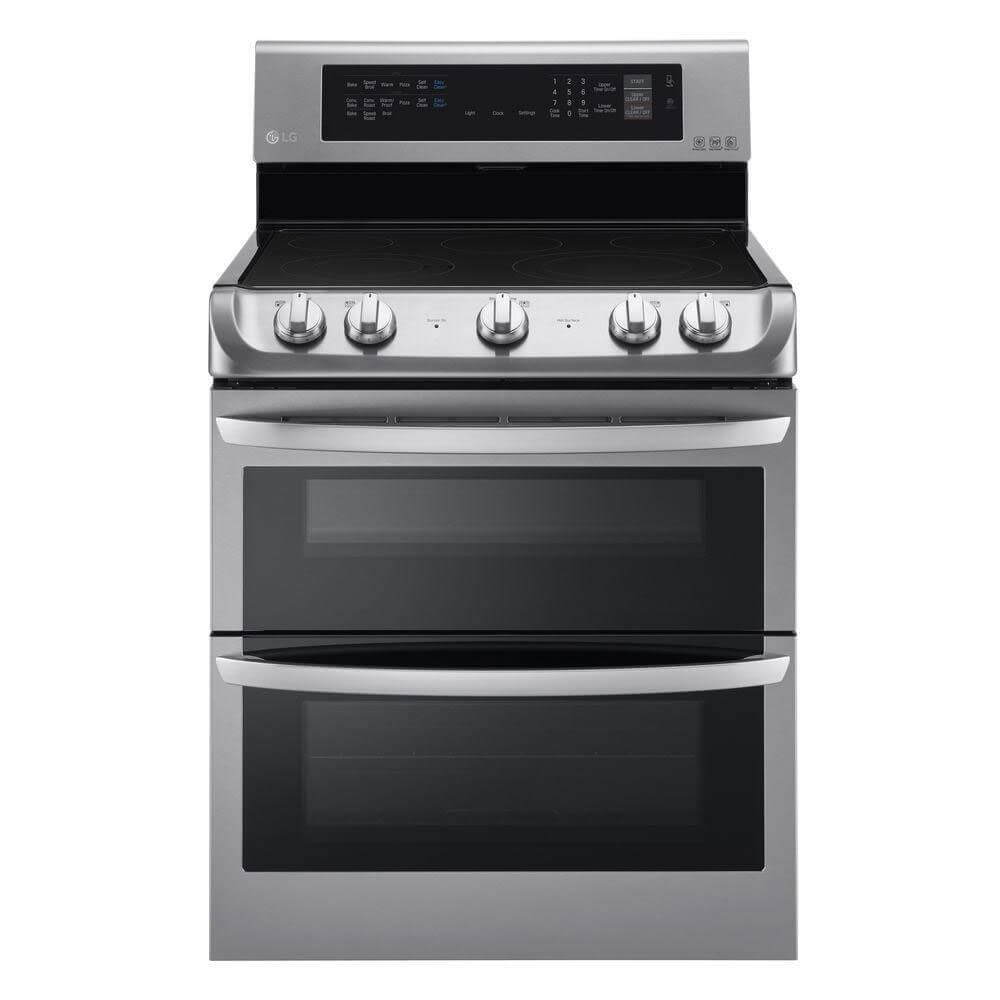 LG LDE4413ST 30'' Stainless Steel Electric Smoothtop Double Oven Range