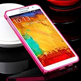 Note 3 Case Luxury Gold Slim Ex Linear Metal Case For Samsung Galaxy Note 3 Iii N9000 N7200 Accessories Protective Frame Cover Hot Pink-Hot Pink