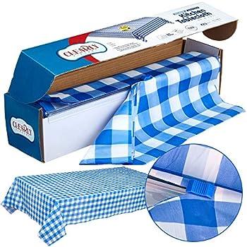 Amazon Com Cuscus Buffalo Plaid Plastic Tablecloth Roll