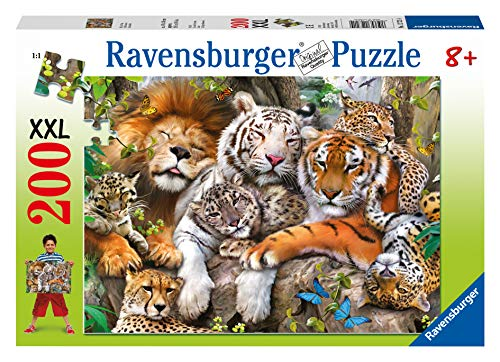 Ravensburger Big Cat Nap 200 Piece Jigsaw Puzzle for Kids - Every Piece is Unique, Pieces Fit Together Perfectly