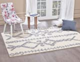 A2Z Rug ( 200×290 cm (6ft8″ x 9ft7″) Ivory 5532 ) Modern & Traditional Moroccan Shaggy Collection Contemporary Living & Bedroom Soft Shaggy Area Rug, Carpet Review
